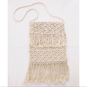 UO | VTG crochet tassels crossbody purse